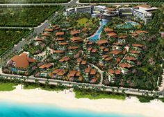 Curio Collection by Hilton Sanya Yazhou Bay Resort Master Plan Masterplan Architecture, Architecture Design, Beach Hotels, Hotels And Resorts, Resort Villa, Sanya, Five Star Hotel, Hospitality Design, Master Plan