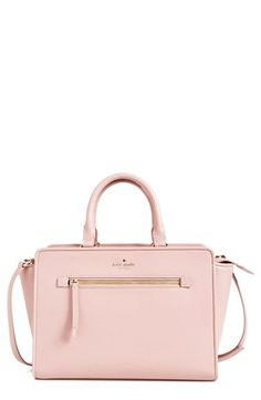 kate spade new york 'north court - coralline' pebbled leather satchel (Nordstrom Exclusive) | Nordstrom