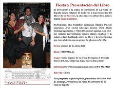 Book Launch Party, La Casa de Espana in Old San Juan, Puerto Rico