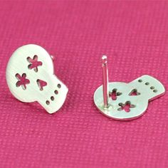 Tiny Flower Eyed Sugar Skull Studs by ANORIGINALJEWELRY on Etsy, $50.00-----i looooooooooove these but why oh why are they $50??