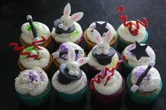 Colorful and cute- Magic Abracadabra Cupcakes idea (Thank you to Christie for permission to use this photo)