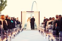 Four Seasons Hotel. Roof top wedding ceremony. St. Louis, MO.
