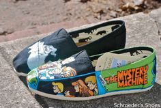 Custom Painted Toms Shoes. $190.00, via Etsy. I think these are totally worth it. I NEED these!