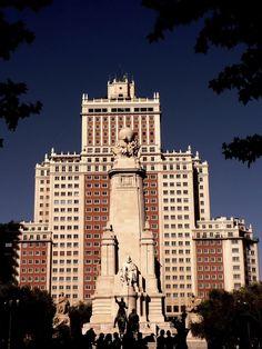 Foto Estatua de Don Quijote en la Plaza de España en Madrid