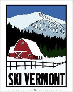 Don't forget to vote on Ski Vermont poster contest - Travel tips - Travel tour - travel ideas Travel Ads, Travel Tours, Jay Peak Vermont, Vermont Ski Resorts, Vintage Ski Posters, Retro Posters, Historic New England, The Great Outdoors, Nordic Skiing