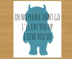 Where the Wild Things Are, I would smile if I saw this on a doormat : )
