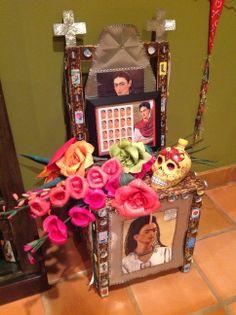 Dia de Los Muertos gallery~ Treasures of the Gypsy Altars, Fiber Art, Gypsy, Craft Ideas, Spaces, Dolls, Gallery, Frame, Crafts