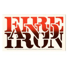 Logotype: Fire and Iron Gallery | Alan Fletcher