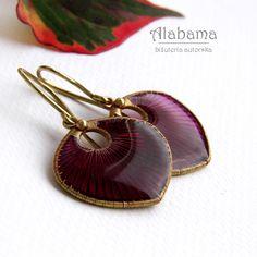 ALABAMA - Ruby - kolczyki  #polandhandmade, #wire_wrapping, #jewelry