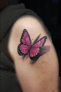 Realistic butterfly color tattoo in progress made by Giena Revess in Elk, Poland. Realistic butterfly color tattoo in progress made by Giena Revess made in Elk, Poland. Butterfly Ankle Tattoos, Realistic Butterfly Tattoo, Butterfly With Flowers Tattoo, Small Snake Tattoo, Star Foot Tattoos, Mini Tattoos, Small Tattoos, Pretty Tattoos, Cute Tattoos