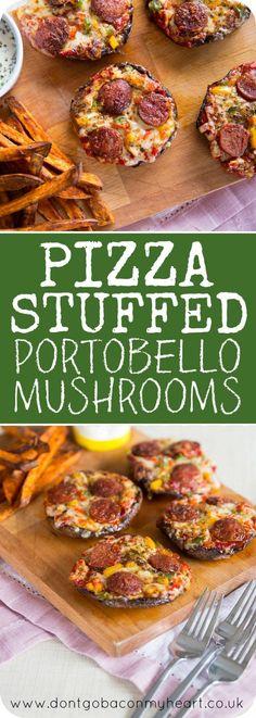 Pizza Stuffed Portobello Mushrooms