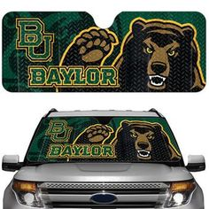 Baylor Bears car sun