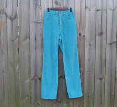 Vintage 70s 80s Turquoise High Rise Wrangler by PinkCheetahVintage