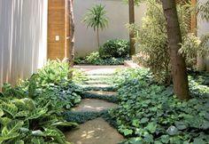 Paisagismo com jardim moderno - Paisagismo - Plantas, Flores e Jardins