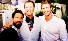 THESE THREE I LOVE THEM SO MUCH #Joshua #Gomez ##Adam #Baldwin #Ryan #McPartlin