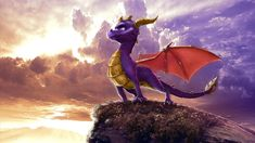 image of Spyro to use as inspiration for my alien dragon creature