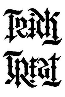 """Trick of Treat"" ambigram"