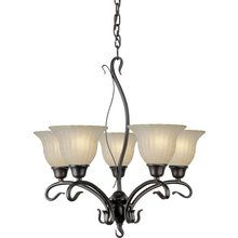 View the Forte Lighting 2200-05 5 Light Up Lighting Chandelier at LightingDirect.com.