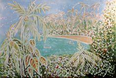 PARAISO III  Coleção: Heranças  Técnica: Batik sob tela  Medida: 0.80m x 1.20m  www.tribodasartes.com