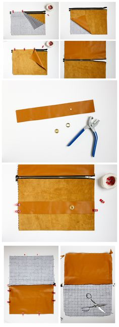 DIY Leather Strap Clutch Tutorial // Delia Creates