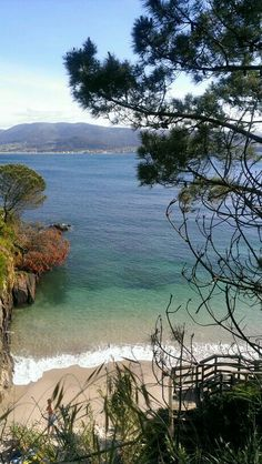 Una cala de Monteferro. Nigran Galicia. Al fondo Baiona. Spain. Beach. Sea.Paradise Costa, Marca Personal, Secret Places, Homeland, Beautiful Beaches, Caribbean, Travelling, Spain, To Go