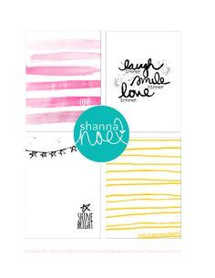 Shine Bright Free Filler Cards for Project Life