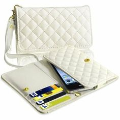 Amazon.com: eForCity White Leather Wallet Case compatible with the New Apple® iPhone® 5: Cell Phones & Accessories