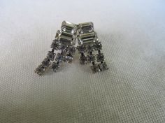 Rhinestone Dangle Earrings by KittyCatShop on Etsy, $6.99
