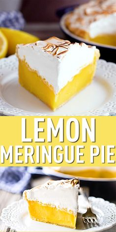 Perfect Lemon Meringue Pie: This recipe can't miss! Tangy filling that sets up firm and a billowy meringue that doesn't weep. Hands down, the world's best lemon meringue pie recipe! Lemon Dessert Recipes, Easy Desserts, Cookie Recipes, Delicious Desserts, Myer Lemon Recipes, Maple Fudge Recipes, Orange Cheesecake Recipes, Light Desserts, Mini Lemon Meringue Pies