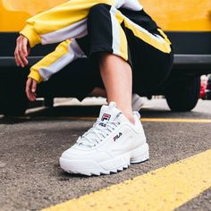 Sneakers fila woman outfit 16 New ideas Moda Sneakers, Cute Sneakers, Sneakers Mode, Best Sneakers, Cute Shoes, Me Too Shoes, Shoes Sneakers, Tumblr Sneakers, Apl Shoes