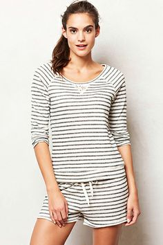 Eloise Striped Terry Pajamas // Perfect for a lazy Sunday morning... or afternoon