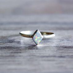 Diamond Shape Navajo Opal Ring