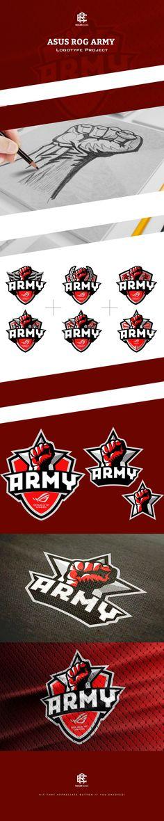 ASUS ROG ARMY Logotype on Behance