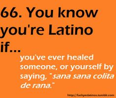 Shut the front door! I so sang this as a kid too! Nothing like being Hispanic :)