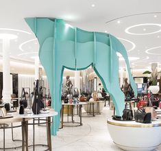"""BROWN THOMAS, Dublin, Ireland, """"Animal Attraction"""", (Our new friend has legs for days! We are bringing the safari to you!), pinned by Ton van der Veer"""