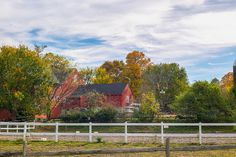 Heald Street Farm, Pepperell, MA by www.meandwee.com, fall foliage, farming, horse farm