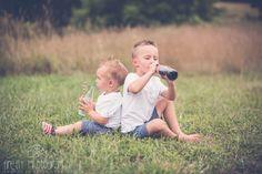 Lake of the Ozarks Missouri children's natural light photographer. brothers. coca cola themed mini session.