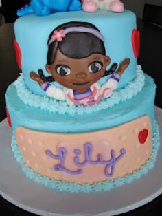 doc mcstuffins cake!~ Gabby would love this! Such a great cartoon for little black girls!