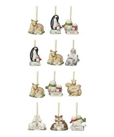 Love this Animal Relationship Ornament Set on #zulily! #zulilyfinds