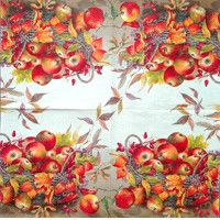 Servítka - Jesenný košík s jabĺčkami