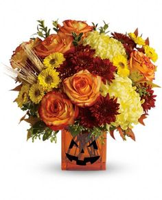 The Hauntingly Beautiful Halloween Bouquet sends your happy Halloween wishes to your favorite ghosts and goblins.