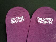 Purple Sangria Grooms Socks in case you get cold feet by GroomSocks #wedding #weddinggift #groom #weddingideas