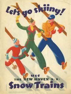 New HavenSnow Train brochure ~ 1939   by Sasha Maurer