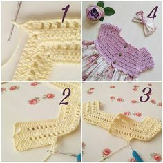 Best 12 Crochet bodice for a toddler dress tutorial Crochet Baby Bibs, Crochet Yoke, Crochet Diagram, Freeform Crochet, Crochet For Kids, Crochet Stitches, Baby Knitting, Crochet Hats, Crochet Dresses