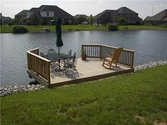 Click Logo to learn Lake Dock, Boat Dock, Building A Dock, Lake Landscaping, Swimming Pool Pond, Dock Ideas, Farm Pond, Deck Pictures, Backyard Renovations