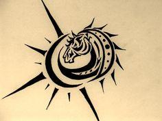 Horse Tattoo Design By Inkhorse On Deviantart Design 900x675 Pixel