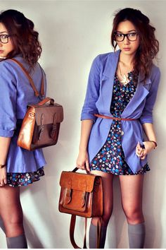 Salmon-dress-off-white-dress-navy-dress-violet-blazer-dark-brown-bag-h_400