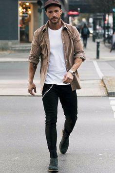 Men street fashion 9 everyday mens street style looks to help you loo Mens Fashion 2018, Mens Fashion Blog, Mens Fashion Shoes, Suit Fashion, Fashion Photo, Fashion Styles, Fashion Ideas, Fashion Blogs, Black Men's Fashion