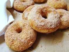 Traditional Grandma's Simple and Delicious Buttermilk Donuts Recipe . Buttermilk Donut Recipe, Donut Recipes, Dessert Recipes, Baked Doughnuts, What Recipe, Piece Of Cakes, Yummy Food, Favorite Recipes, Snacks