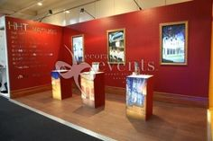 Historic Houses Trust - Great #graphics and #lighted pedestals in this #booth!